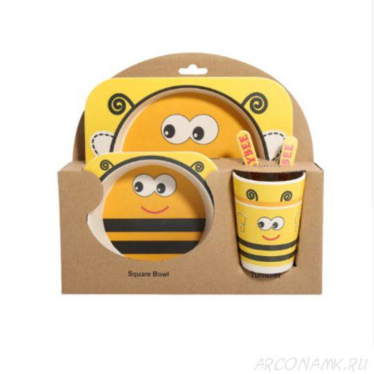Набор детской посуды из бамбука Bamboo Ware Kids Set , 5 предметов