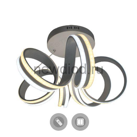 Управляемый светодиодный светильник подвесной VOLNA DOUBLE 90W 6R-500/1200-WHITE/OPAL-220-IP20