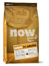 NOW Natural holistic Беззерновой для взрослых собак с индейкой, уткой и овощами Fresh Adult Recipe Grain Free, 11,3 кг