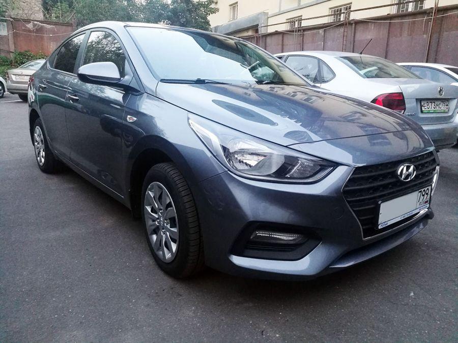 Hyundai Solaris 2018 г. Автомат (серый)