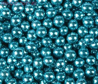 Шарики Голубые Хром (d5 мм) 50гр.