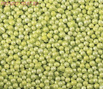 Шарики Зелёные перламутровые (2 мм) 50гр.