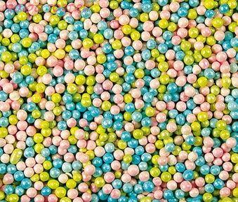 Шарики ПЕРЛАМУТРОВЫЕ   Голубо-зелёно-розовые (2 мм) 50 гр.