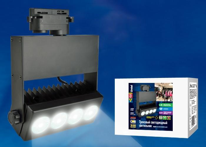 Трековый светильник на шинопровод Volpe ULB-S41R-35W/NW BLACK