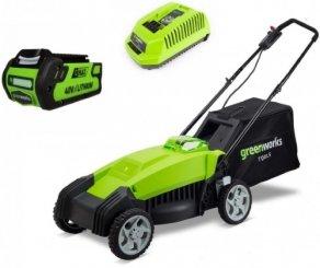 Газонокосилка аккумуляторная Greenworks G40LM35K2 (2500067va)