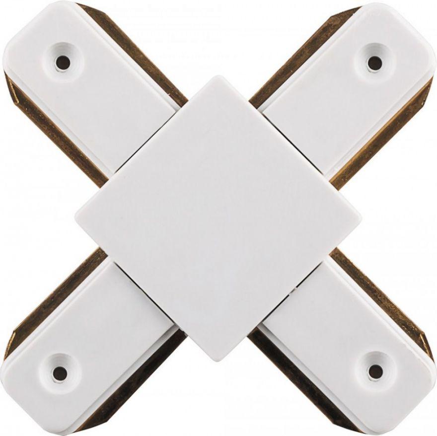 Коннектор Х-образный Feron для шинопровода белый LD1002 10330