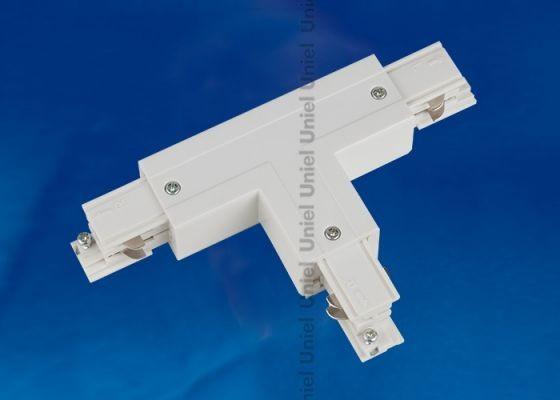 Соединитель для шинопроводов 3-фазный Т-образный правый внешний белый Uniel UBX-A31 WHITE 1 POLYBAG