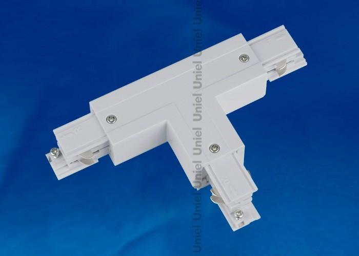 Соединитель для шинопроводов 3-фазный Т-образный правый Uniel внешний серебро UBX-A31 SILVER