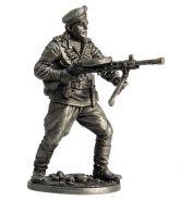 Краснофлотец морской пехоты Черноморского флота с пулемётом ДП. 1943-45 гг. СССР (олово)