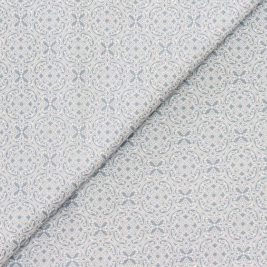 Ткань Восточный узор на голубом 50х40