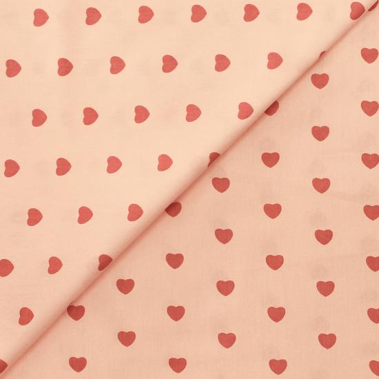 Ткань Сердечки на светло-розовом 50х40