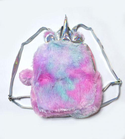 Плюшевый рюкзак «Пушистый единорог»