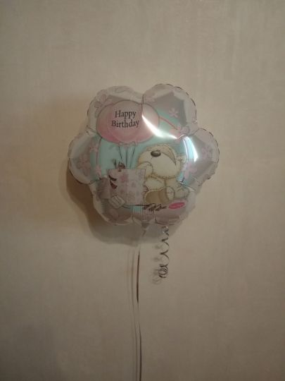 Цветок Мишка шар фольгированный с гелием