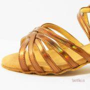 бронзовые туфли для танцев для девочки