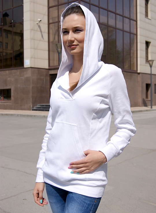 Белый женский анорак