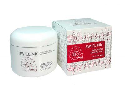 Ночная маска для лица с экстрактом слизи улитки 3W Clinic Snail Mucus Sleeping Pack