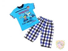 "Костюм для мальчика: футболка+бриджи (Турция) код 01771 ""Мамин Малыш"" оптом"