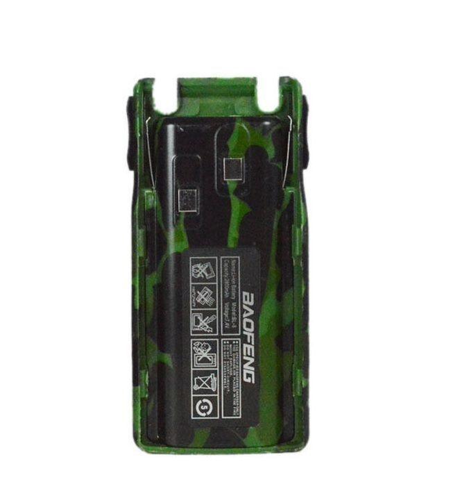 Аккумулятор BL-8 для рации Baofeng UV-82 2800 мАч зеленый (камуфляж)