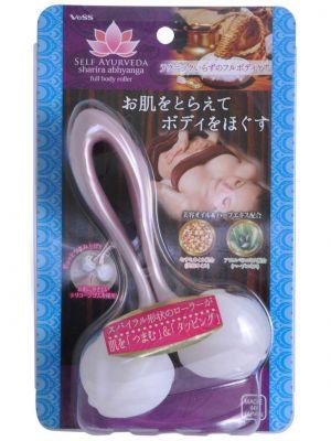 Роликовый массажер для тела (c кунжутным маслом и экстрактом алоэ) VESS