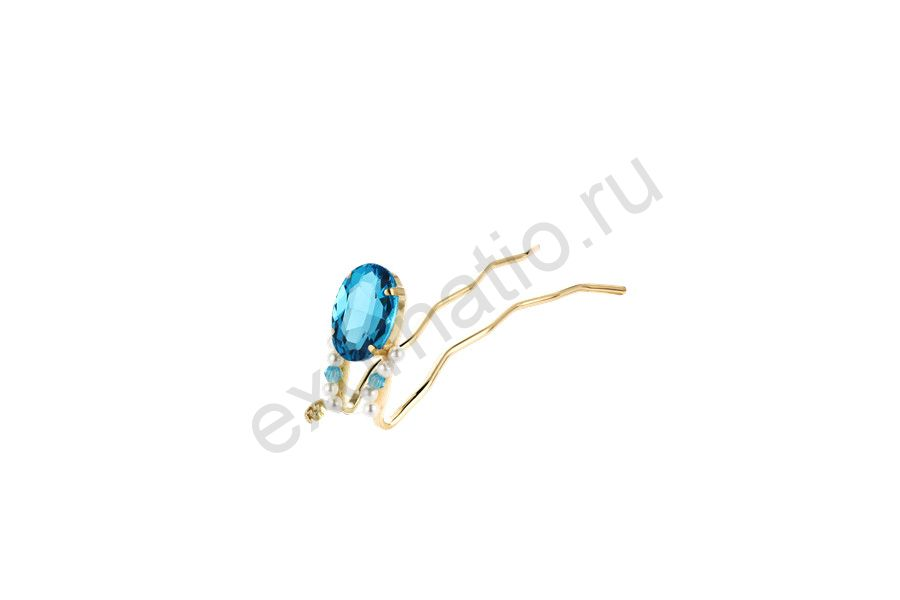 Шпилька Evita Peroni 41130-817. Beads and Pearls  Blue