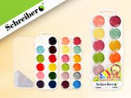 Краски акварельные 24 цв. пластм.упаковка (арт. S 2806)