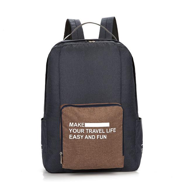 Складной Туристический Рюкзак New Folding Travel Bag Backpack 20, Цвет Темно-Серый