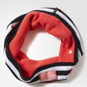 Шарф-повязка adidas Stripy Tube чёрно-белая с розовым