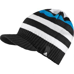 Детская шапка adidas Striped Visor Beanie чёрная