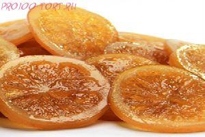 Апельсиновые засахаренные дольки АМБРОЗИО  вес 100 гр.
