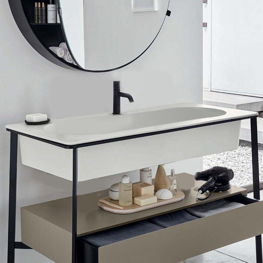 Раковина Cielo Catino Rettangolare CALAR накладная на мебель 110х54 ФОТО