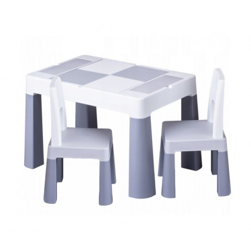 Комплект детской мебели Tega Baby MULTIFUN бело-серый