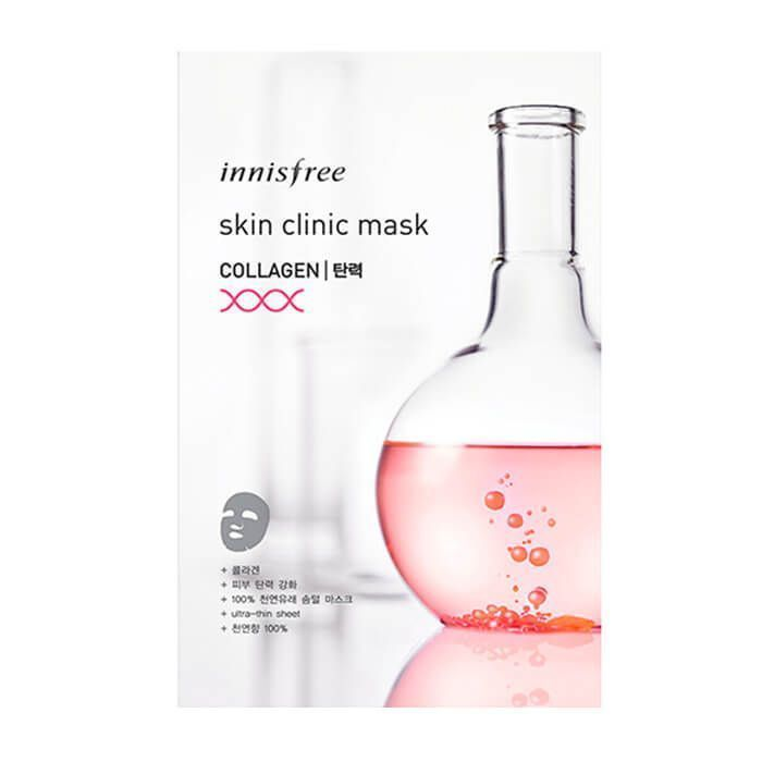 Innisfree Ультратонкая листовая маска для лица с коллагеном Skin Clinic Mask Collagen
