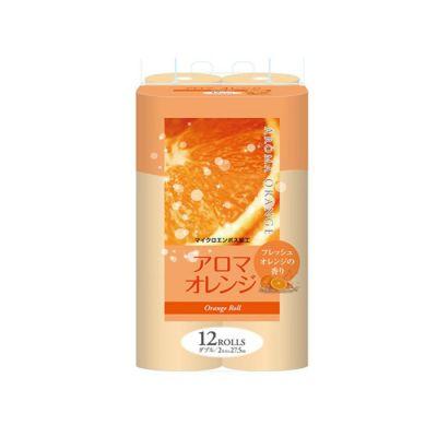 Fujieda Seishi Туалетная бумага двухслойная с ароматом Апельсина 27,5 м 12 рулонов