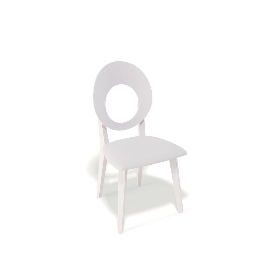 Деревянный стул KENNER 115М, с мягким сиденьем, белый - белый