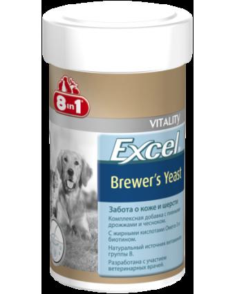 Витамины для собак и кошек 8in1 Brewers Yeast пивные дрожжи, 140шт.