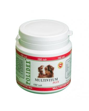 POLIDEX® Multivitum plus (Полидэкс Мультивитум плюс) Витамины для собак (150 таблеток)