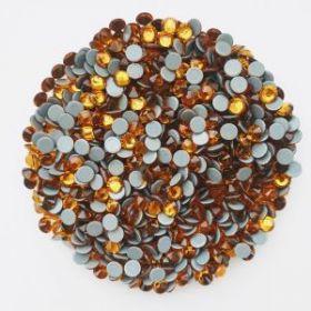 Стразы термоклеевые (стекло) ss-20 оранжевые (25гр)