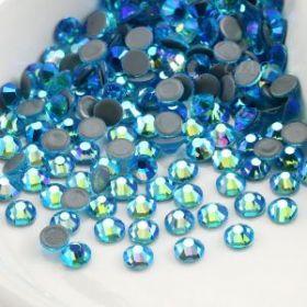 Стразы термоклеевые (стекло) ss-20 перламурт голубой (25гр)