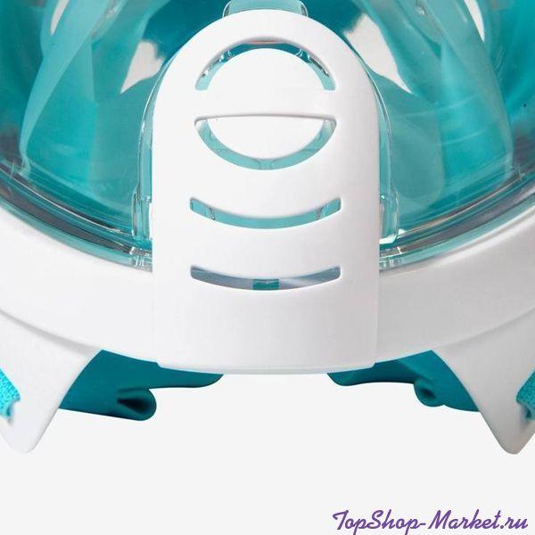 Маска для снорклинга с креплением для экшн-камеры Freebreath, Цвет: Голубой, L/XL