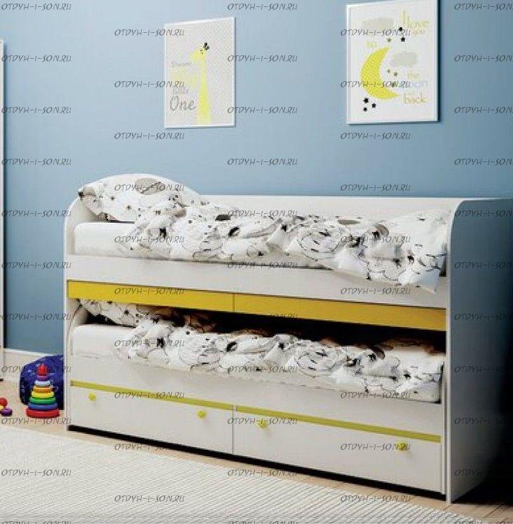Кровать двухъярусная Мамба BTS (1932х848х1204)