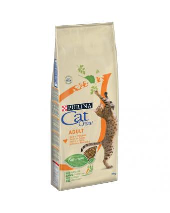 Сухой корм для взрослых кошек Cat Chow Adult с птицей