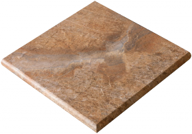 Ступень угловая Italon Magnetique Gradone Ang. (1) Rusty Gold 33×33