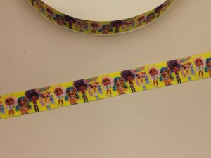 Лента репсовая с рисунком, ширина 25 мм, длина 10 метров, ЛР5748-08