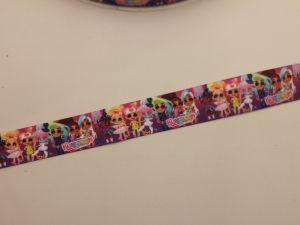 Лента репсовая с рисунком, ширина 25 мм, длина 10 метров, ЛР5748-12