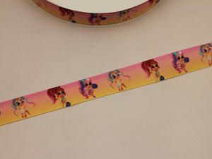 Лента репсовая с рисунком, ширина 25 мм, длина 10 метров, ЛР5748-23