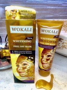 Золотая маска для лица Wokali Whitening Gold Caviar , 130 мл