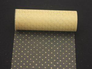 Фатин с люрексом, средняя жесткость, ширина 15 см, бобина 10 ярдов, цвет: Q05