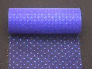 `Фатин с люрексом, средняя жесткость, ширина 15 см, цвет: Q15 синий