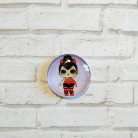 кабошон LOL  диаметр 25 мм материал стекло