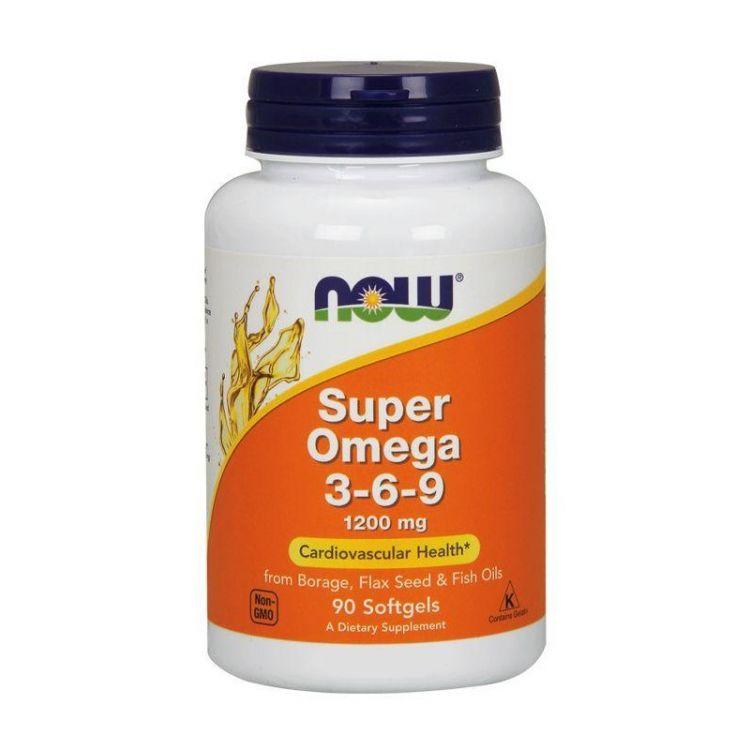 Super Omega-3-6-9 1200 мг от NOW 90 кап_